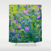 sunshine Shower Curtains featuring Sunshine. by Mary Berg
