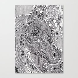 Horse graphic Canvas Print