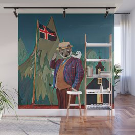 Ermine in the Iceland Wall Mural