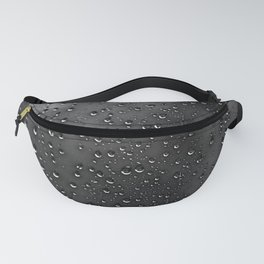 Black and White Rain Drops; Abstract Fanny Pack