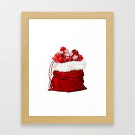 Christmas gifts bag #society6 #decor #buyart Framed Art Print