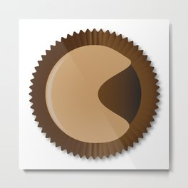 Chocolate Box Moon Shape Metal Print