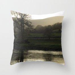 Hazy River Throw Pillow
