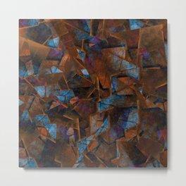 Frsgments In Bronze - Abstract Textured Art Metal Print