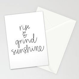 Rise and Grind Sunshine Stationery Cards