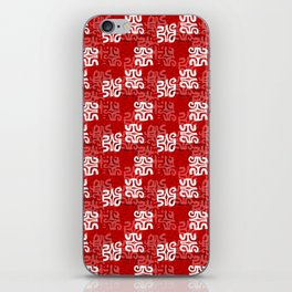 Swanky Mo Red iPhone Skin