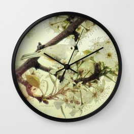 Tufted Titmouse Spring Flower Farmhouse Art Country Home Decor A132 Wall Clock