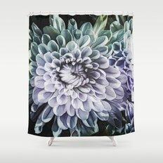 Blue Mums Shower Curtain