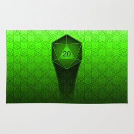 D20 All I Do Is Crit!  Green Ombre Rug