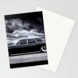 THE SLAMMED AMERICAN LIMOUSINE IN DRAMATIC SCENERY Stationery Cards