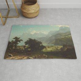 Lake Lucerne by Albert Bierstadt Rug
