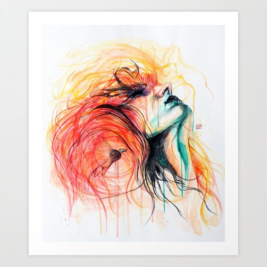 Metamorphosis-Bird of paradise Art Print
