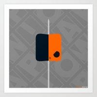 deathstroke Art Prints featuring Marshmallow Deathstroke by Oblivion Creative