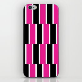 Shifted Illusions - Black and Pink iPhone Skin