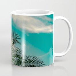 Palms on Turquoise - II Coffee Mug