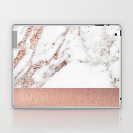 Rose gold marble and foil Laptop & iPad Skin