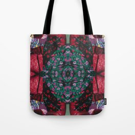 red lace - a modern, colorful collage Tote Bag