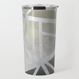 Textured Metal Geometric Gradient With Silver Travel Mug