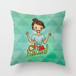 Oh So Awkward Throw Pillow