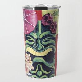 Tiki Betty Page Travel Mug
