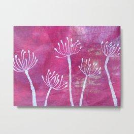 Alliums in Red Metal Print