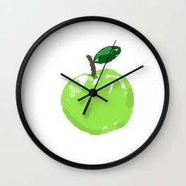 Green Apple Wall Clock