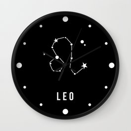 Leo Zodiac Sign Quote Wall Clock
