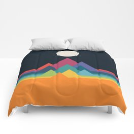Whimsical Mountains Comforters