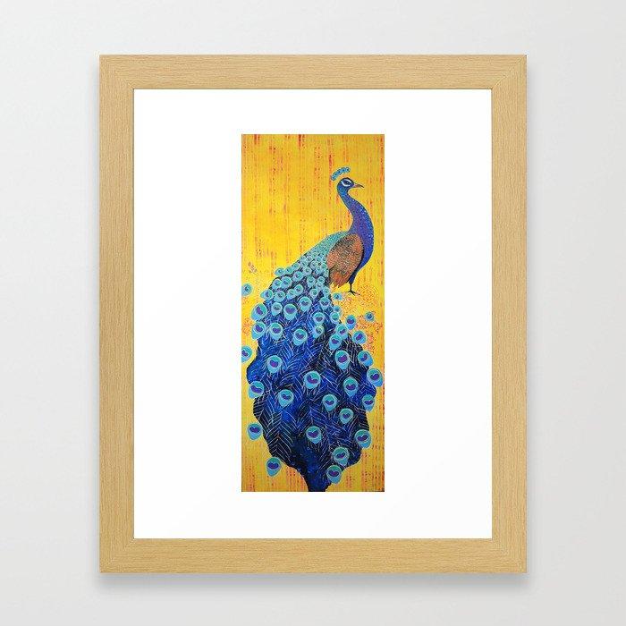 Peacock - Brave Framed Art Print