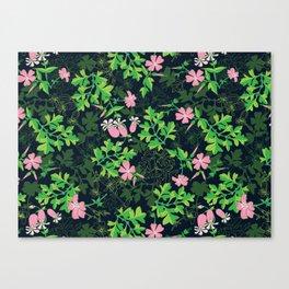 Forest Wildflowers / Dark Background Canvas Print