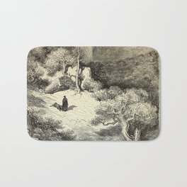 Gustave Doré - Illustration of the Serranía de Ronda, near Málaga, Andalusia, Spain (1874) Bath Mat
