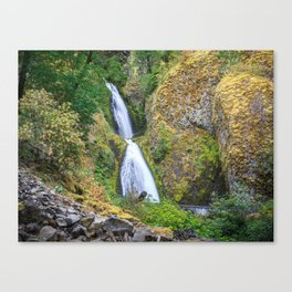 Wahkeena Falls in the Columbia River Gorge Canvas Print