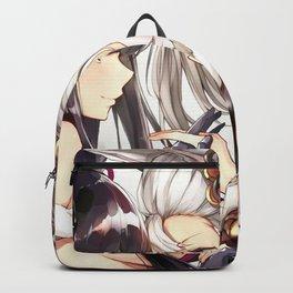 Two Cute Lesbian Hentai Kitty Girl Kitten Hugging Ultra HD Backpack