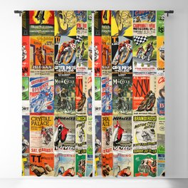 Vintage Motorcycle Race Posters Blackout Curtain