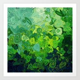 Composition #82 (shades of green) Art Print