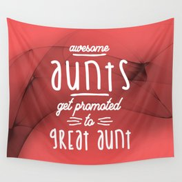 Gift for 1st Time Great Aunt - Great Aunts Wall Tapestry