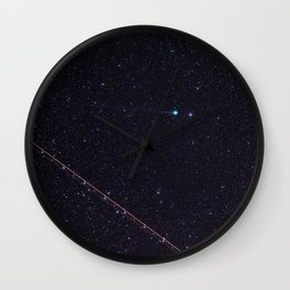 Flightpath in the Stars Wall Clock