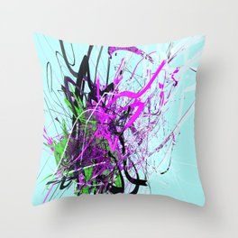 the guardian asleep, a meteor struck the garden room, dabloon collection orchid Throw Pillow