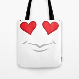 Valentine's Day love heart face cute gift Tote Bag