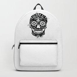 Sugar Skull Art Black and White Art Gift Skull Illustration Calavera Mexican Skull Art Backpack