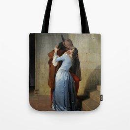 The Kiss by Francesco Hayez Tote Bag