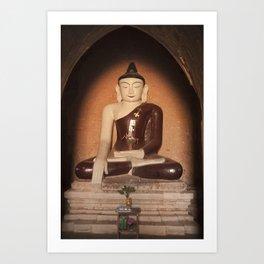 Buddha in Bagan Art Print