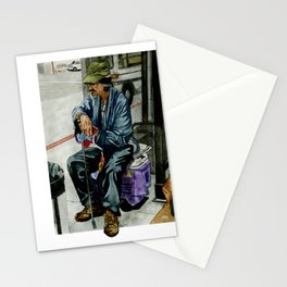 Homeless Series 2 ~ Sunset Blvd., Los Angeles, CA. Stationery Cards