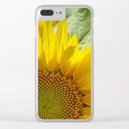 Cheerful sunflower Clear iPhone Case