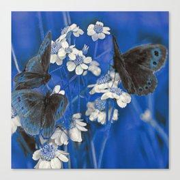 Butterflies in Blue Canvas Print