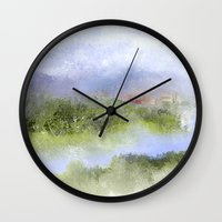italian Wall Clocks featuring Italian Impressions by Jessielee