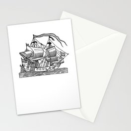 Ship Barco Bateau Schiff лодка Stationery Cards