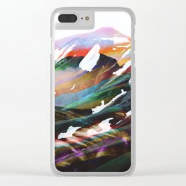 Abstract Mountains II Clear iPhone Case