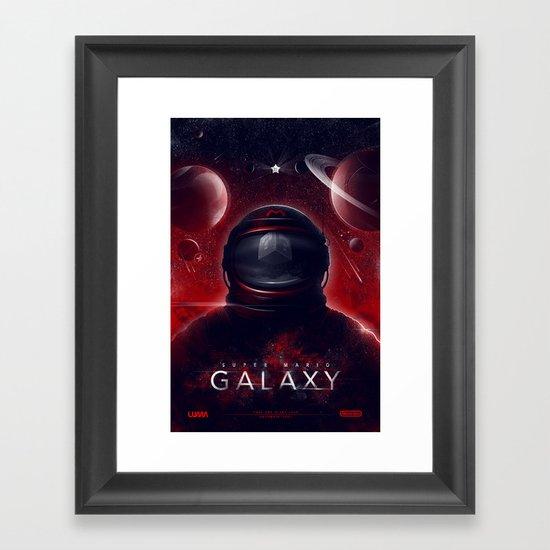 Super Mario Galaxy Framed Art Print