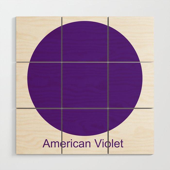 American Violet Wood Wall Art
